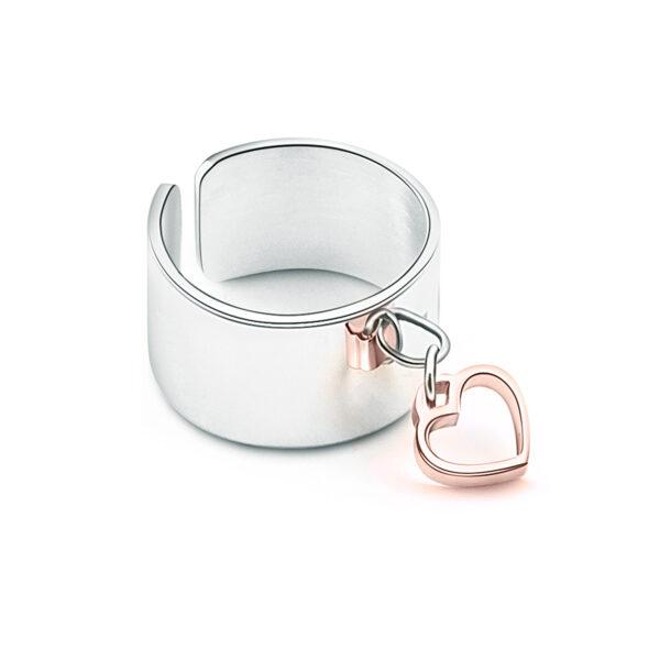 Anello Fascia Cuore Pendente Rosé €12,00 1