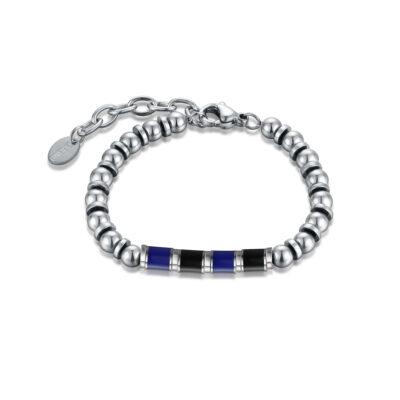 brandgioielli_brand_gioielli_acciaio_bracciale_smalto_nero_azzurro